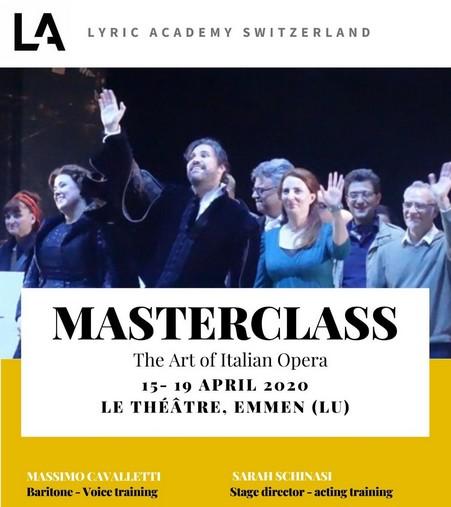 Annuncio Master Class Lucerna Aprile 2020 Massimo Cavalletti Baritono