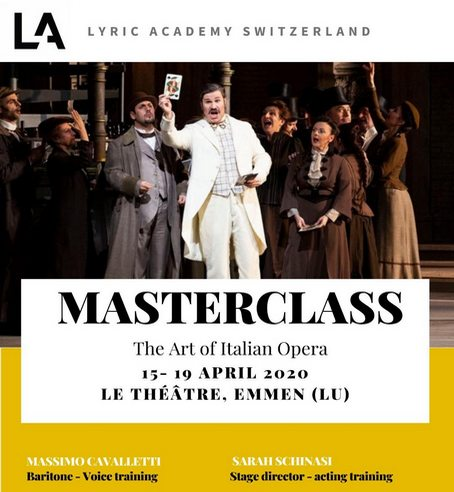 Lucerne Master Class Announcement April 2020 Massimo Cavalletti Baritone